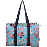 N. Gil All Purpose Organizer 18'' Large Utility Tote Bag 2 (Flip Flop Navy Blue)