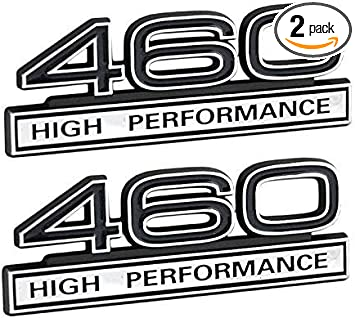 460 7.5L Engine High Performance Emblem with Red /& Chrome Trim