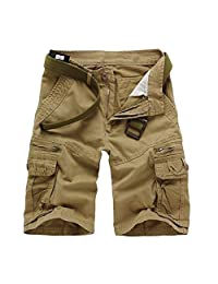 Men's Summer Modern Style Casual Cargo Shorts Pants Loose Pockets Trousers