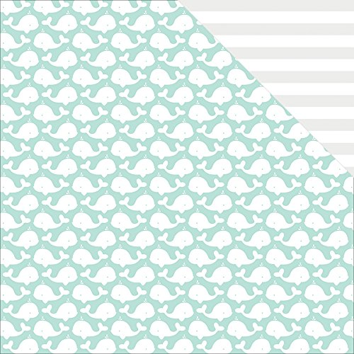 Fancy Pants Summer Sun Double  Sided Cardstock  25 Sheets  12  By 12   Whales