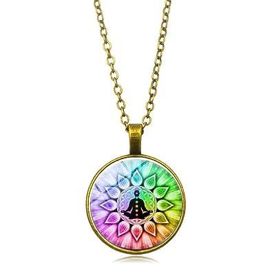 MXWY Collar De Aleación Accesorios De Mandala De Yoga Joyas ...