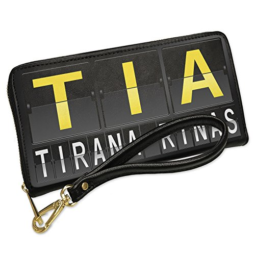 Wallet Clutch TIA Airport Code for Tirana - Rinas with Removable Wristlet Strap (Tia Clutch)