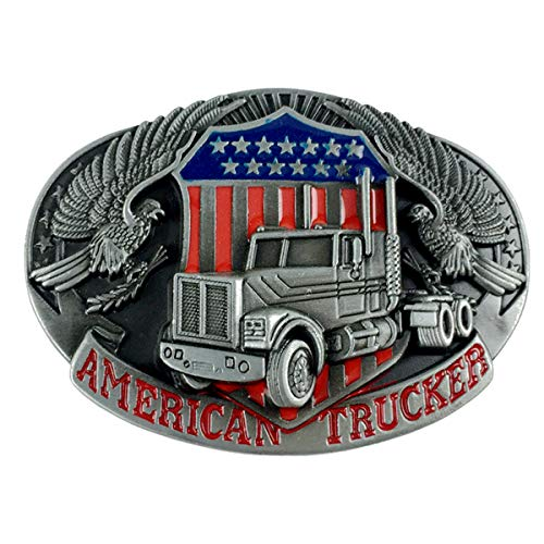 (Truck Belt Buckle American Trucker Motorcyclist (TRK-02))