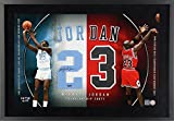 Michael Jordan North Carolina Tar Heels & Chicago Bulls Framed Autographed Jersey Numbers - Upper Deck - Fanatics Authentic Certified