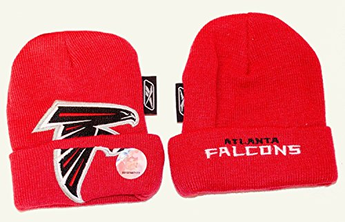 Reebok NFL Officially Licensed Atlanta Falcons Infant Embroidered Knit Beanie Hat Cap Lid Skull ()