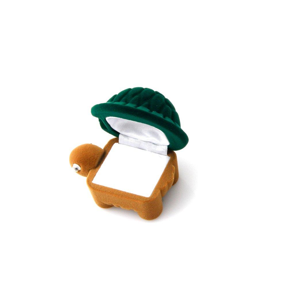 Cute Turtle Jewelry Storage Box Velvet Earrings Ring Holder Storage Gift Case