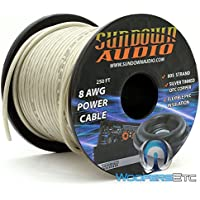 805 Strands Silver - Sundown Audio 250 Ft. 8 AWG Power Cable