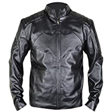 MSHC Batman Arkham Knight Black Leather Jacket With Bat Logo