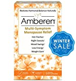 Amberen - Menopause Relief Supplement for Hot Flashes, Weight Gain, Irritability and Other Symptoms of Menopause (1 Box)
