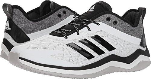 timeless design 44732 5fb29 adidas Men s Speed Trainer 4 Baseball Shoe Crystal White Black Carbon 11 M  US