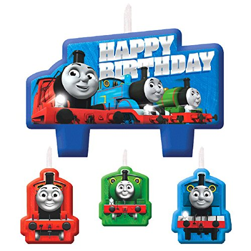 Thomas the Train Tank Engine (Thomas & Friends) Kids Birthday Party Candle Set ()