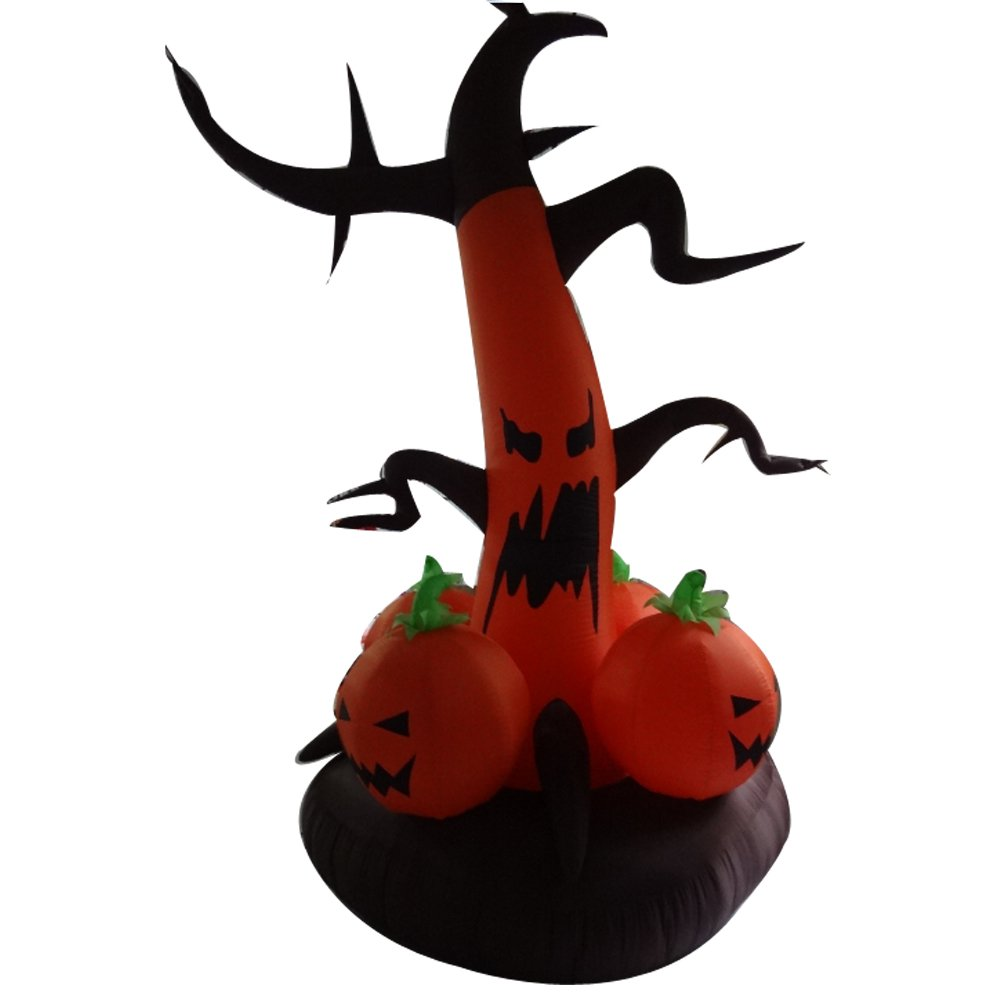 Sayok 6.56ft Tall Inflatable Halloween Tree and Inflatable Pumpkin Decorations Home Yard Decor