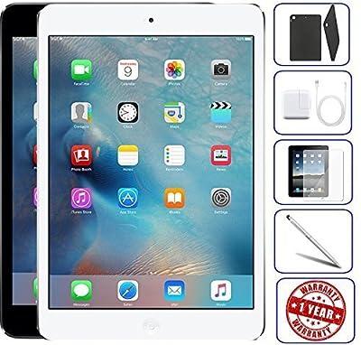 Apple iPad Mini 2 16GB,32GB,64GB,128GB - Wifi | Bundle Includes: Case, Tempered Glass, Stylus Pen, 1 Year Warranty (Refurbished)