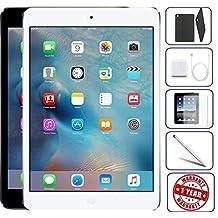 Apple iPad Mini 2 16GB - WiFi | Bundle Includes: Case, Tempered Glass, Stylus Pen, 1 Year Warranty (16GB, Silver)