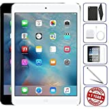 Apple iPad Mini 2 16GB - WiFi   Bundle Includes: Case, Tempered Glass, Stylus Pen, 1 Year Warranty (16GB, Silver)