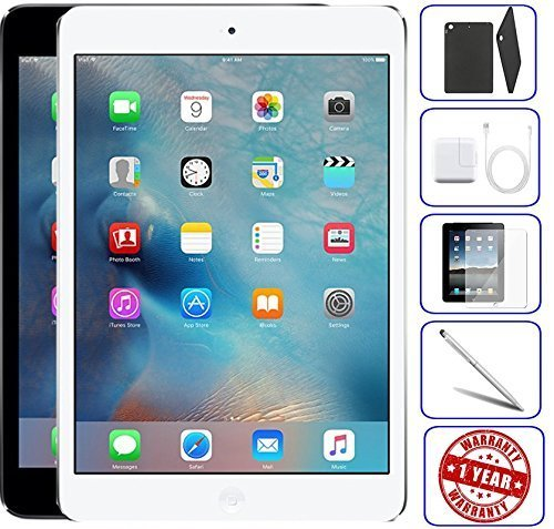 Apple iPad Mini 2 16GB,32GB,64GB,128GB - Wifi | Bundle Includes: Case, Tempered Glass, Stylus Pen, 1 Year Warranty (32GB, Space Gray) - 2 32gb Ipad Mini