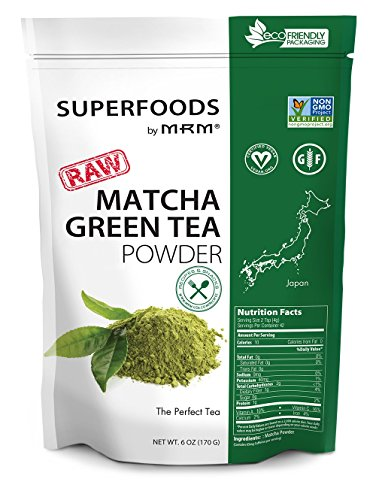 MRM – Matcha Green Tea Raw Superfood, Non-GMO Verified, Vegan and Gluten-Free (6 oz) 51cMcNfBYdL