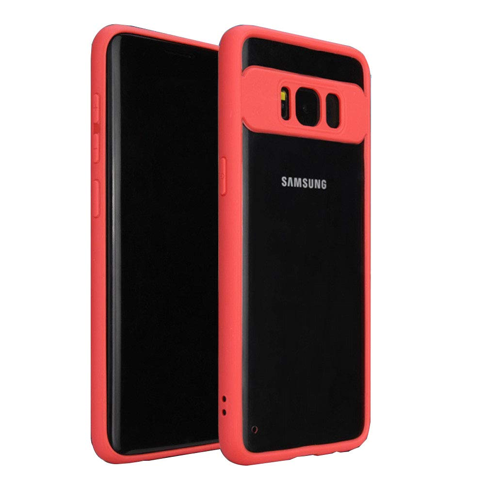 Likgus Samsung Galaxy S8 Plus Sky Eye Series Slim Fit Clear Case Cover - Red