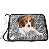 Pet Heating Pad, AY-Thirteen-a Waterproof Pet Blanket Bed Electric Warmer Pet Heating Mat for Dog and Cat with Overheat Protection, 4545cm