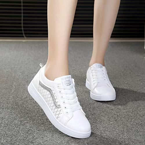 GTVERNH Damenschuhe Mode Ausgehöhlten Mesh Sommer Flachen Boden Boden Boden Joker Einzelne Schuhe Lässige Schuhe Glänzen 3d8c62