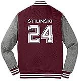 Adult Teen Wolf Beacon Hills Stilinski 2-Sided Sweatshirt Jacket (Medium, Maroon)