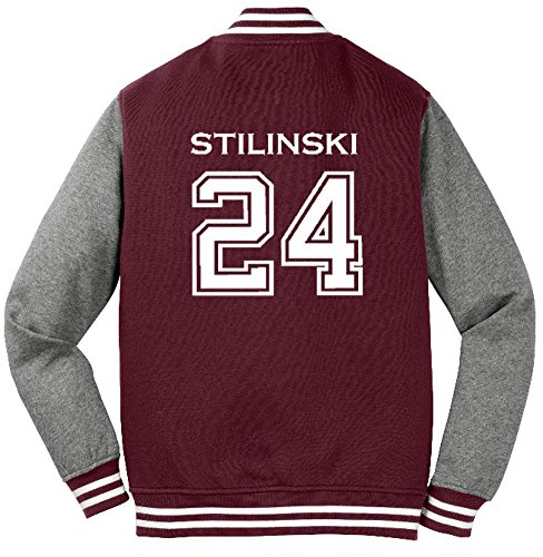 Adult Teen Wolf Beacon Hills Stilinski 2-Sided Sweatshirt Jacket (Medium, Maroon) (Adult Wolf Sweatshirt)