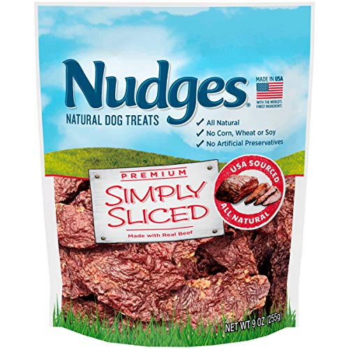- Nudges Simply Sliced Made with Real Beef Dog Treats, 9 oz