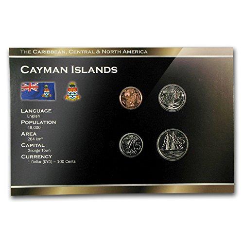 2002 Island - CA 1999-2008 Cayman Islands 1-25 Cents Coin Set BU Uncirculated