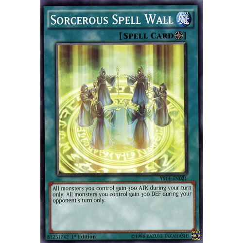 YuGiOh : YS14-EN021 1st Ed Sorcerous Spell Wall Common Card - ( Space-Time...