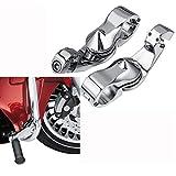 XFMT 1 1/4'' 32mm Chrome Short Angled Adjustable Highway Foot Peg Mount Kit For Harley