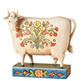 Jim Shore Folk Cow Figurine
