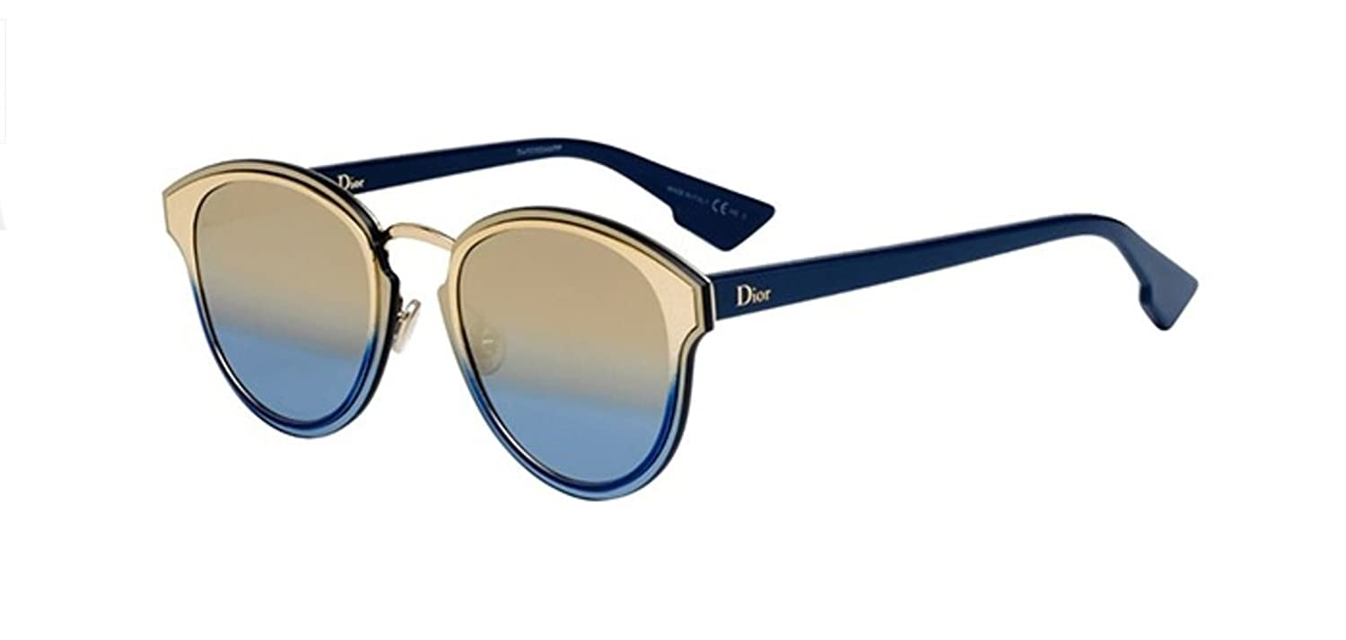 14b36490d60 Amazon.com  New Christian Dior Nightfall LKS X5 Gold Blue Champagne  Sunglasses  Clothing