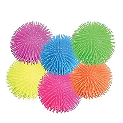 Rhode Island Novelty Puffer Balls Assorted Colors Set of 12: Toys & Games