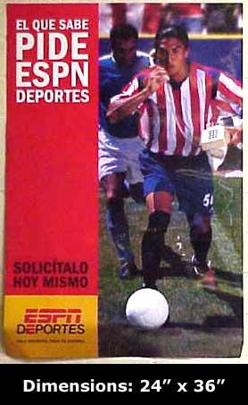 Espn El Que Sabe Pide Espn Deportes Solicitalo Hoy Mismo 24 X36  Poster