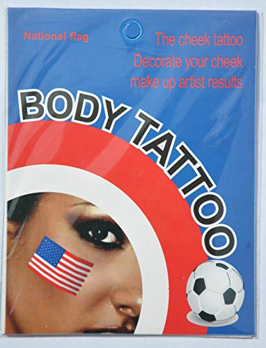 Union Tattoo Jack USA Temporary 5 UK of packs Country Face Flag Sticker T8B8wE1x