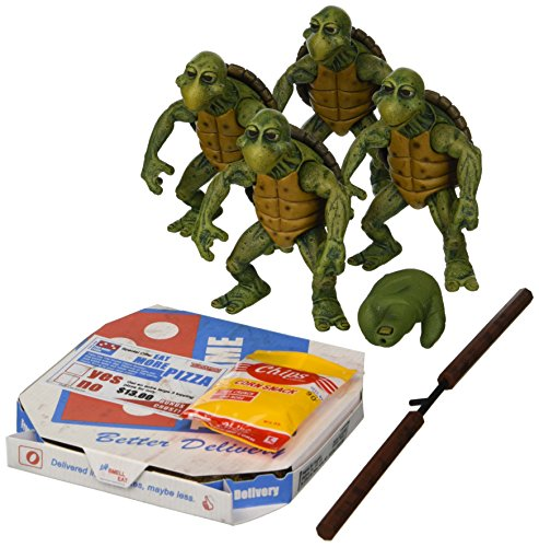 NECA Teenage Mutant Ninja Turtles (1990 Movie) - 1/4 Scale Action Figures - Baby Turtles Set