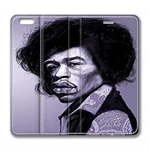 James Marshall Jimi Hendrix Design Leather Case for Iphone 6 Plus Dejected