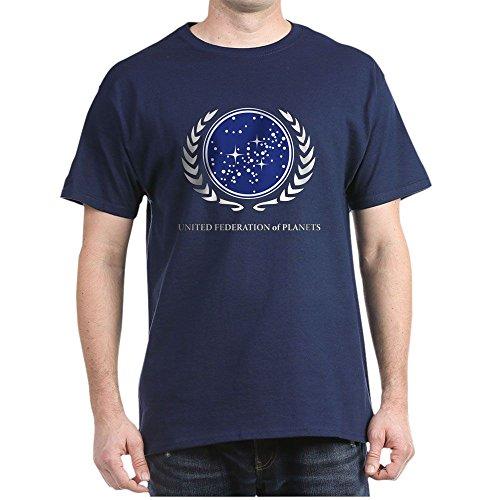 (CafePress Star Trek United Federation of Planets T-Shirt 100% Cotton T-Shirt Navy)