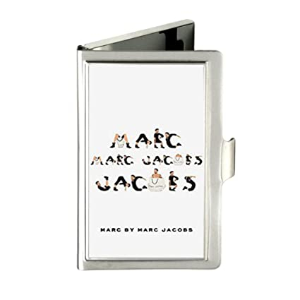 Amazon marc jacobs custom personalized silver business card marc jacobs custom personalized silver business card case holder colourmoves