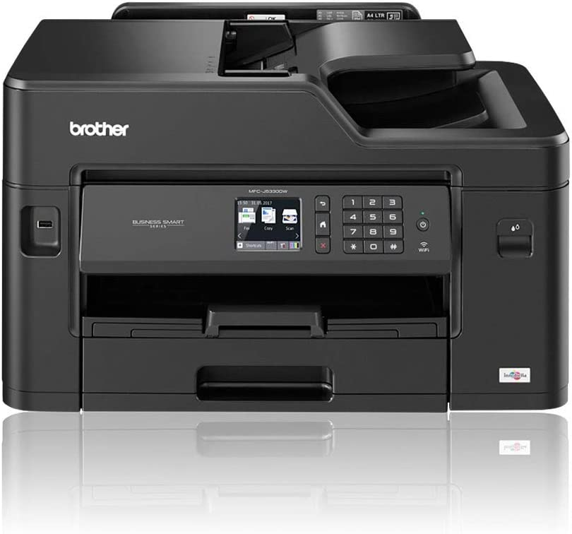 Brother Mfc J5330dw Colour Inkjet Printer All In One Wireless Usb 2 0 Network Printer Scanner Copier Fax Machine 2 Sided Printing A4 Printer A3 Print Capability Small Office Business Printer Amazon Co Uk Computers Accessories