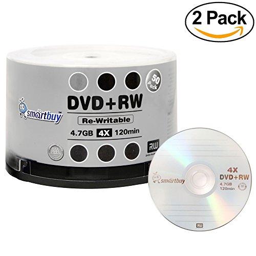 100 Pack Smartbuy Blank DVD+RW