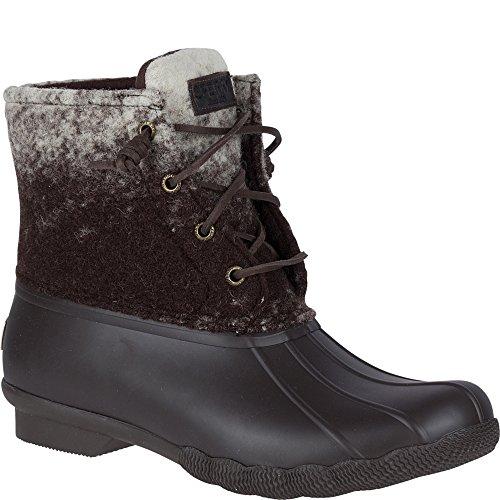 Sperry Top-Sider Women's Saltwater Ombre Rain Boot, Brown/Ivory, 9 Medium US
