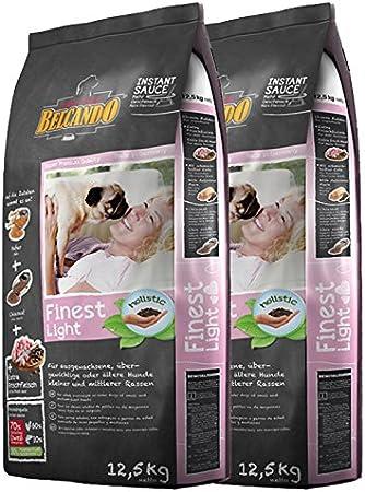 2x 12,5kg belcando Finest Light perros Forro Personas con sobrepeso Perros Pequeños Razas