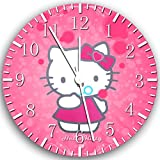 "Pink Hello Kitty Wall Clock 10"" Will Be Nice Gift and Room Wall Decor X20"