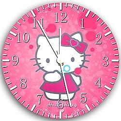 Borderless Hello Kitty Frameless Wall Clock X20 Nice for Decor Or Gifts