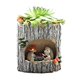 Adarl DIY Mini Creative Flower Pot Flower&Fruits b Plants Seeds Gardening Pots Planters&Container Accessories Resin Hedgehog Pots Big For Sale