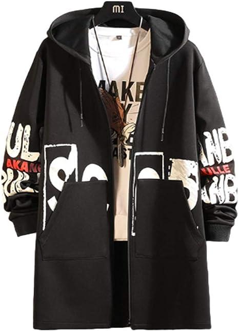 [ユケ二ー]トレンチコート コート メンズ ダーク系 ゆったり 潮流 ゆったり 帽子 ファッション ヒップポップ プリント柄 ポッケト付き