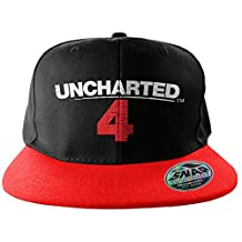 Officially Licensed Uncharted 4 Embroidered Adjustable Size Snapback Cap (Black/Red)