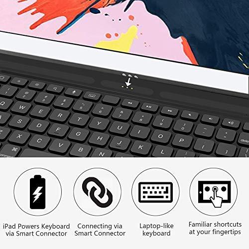 Mangotek iPad Pro Keyboard Case, 10.5 inch iPad Pro Air Wireless Smart Connector Keyboard. Slim Combo Lightweight Folio PU Leather Cover for iPad Pro Air (2019) 10.5''