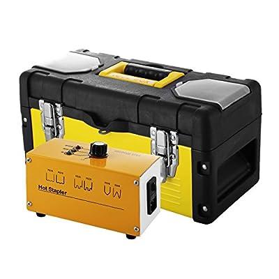 ShunLight Hot Stapler Plastic Repair Kit with Staples Box and Snips 110V Hot Stapler Plastic Welder Bumper for Plastic Repair